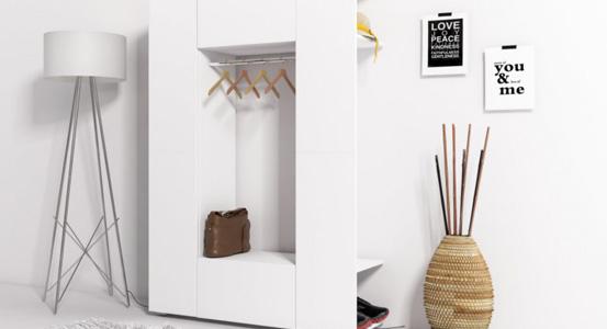 Praktyczna garderoba do małego mieszkania