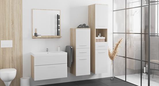 Nowoczesne szafki łazienkowe