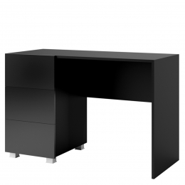 Biurko CALABRIA CL7 czarny / czarny połysk