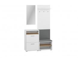 Garderoba INGA 116 biały / dąb wotan