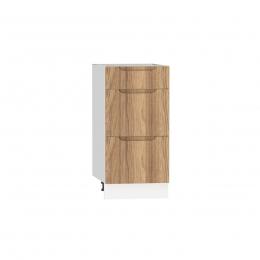 Szafka dolna z szufladami ZOYA D40 S/3 drewno naturalne